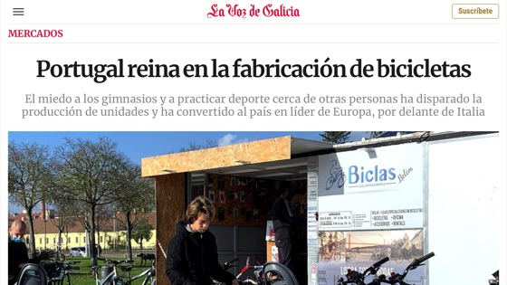 Portugal reigns over bicycle manufacturing